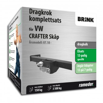 Brink dragbalk inkl. elsats 13-polig specifik + adapter
