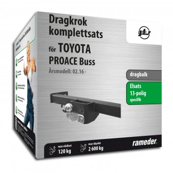 GDW dragbalk inkl. elsats 13-polig specifik + adapter