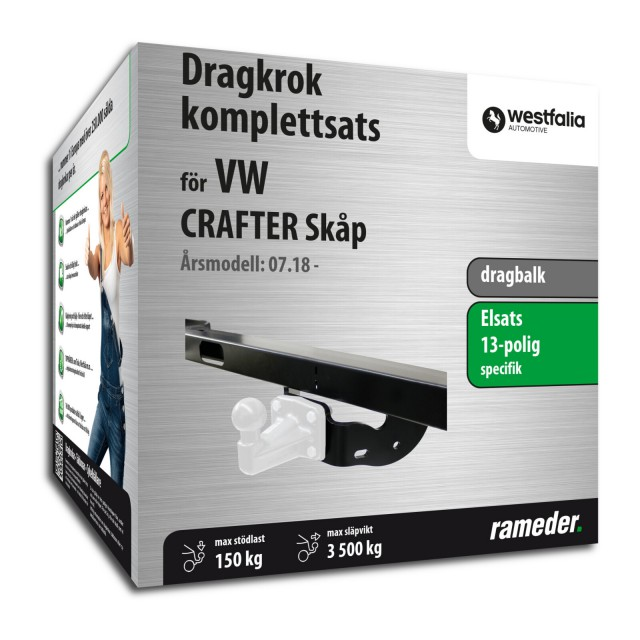 Westfalia dragbalk inkl. elsats 13-polig specifik + adapter