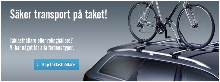Säker transport på taket!