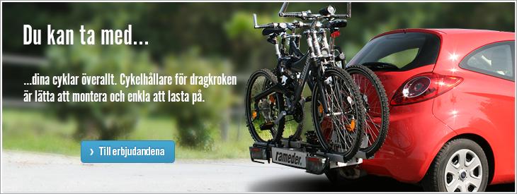 Du kan ta med dina cyklar överallt.