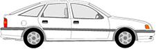 VECTRA A Halvkombi (J89)